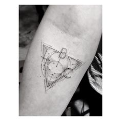 tattoo geometric black and white forms mathematical fine lines and circles