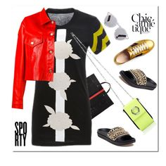 """Sporty Chic"" by nantucketteabook ❤ liked on Polyvore featuring Clare V., Cynthia Rowley, Illesteva, Kendall + Kylie, Alexander Wang, Golden Goose, Gucci, chic and sporty"