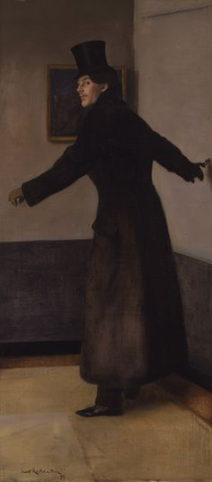 The Painter Charles Conder by Sir William Rothenstein (English 1872-1945), Toledo muséum. Charles Edward Conder (1868-1909) was an English-born painter, lithographer and designer, who emigrated to Australia to become a key figure in the Heidelberg School, arguably the beginning of a distinctively Australian tradition in Western art.....he also liked the Paris nightlife if Toulouse-Lautrec's drawing of him is anything to go by.....