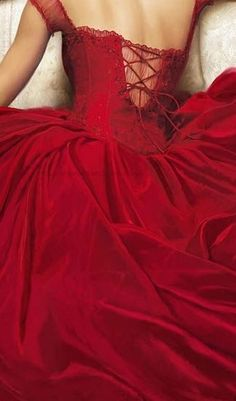 Ravishing Red Gown ~ Lace up Back  ♥