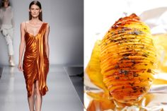 TasteofRunway - Fashion and Food Glamour, Food Design, Food Styling, Family Meals, Side Dishes, That Look, Starters, Color, Runway