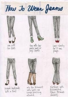 Art how to wear jeans wear-fashion Fashion Mode, Look Fashion, Fashion Beauty, Autumn Fashion, Womens Fashion, Jeans Fashion, Fashion 101, Fashion Advice, Fashion Ideas