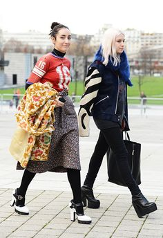 Fashion Week Street Style | Sporty Chic Jerseys