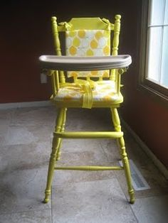 custom painted high chair- websters chalk paint powder and