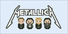 Metallica rock/metal band - Music - Mini People - Cross Stitch Patterns - Products