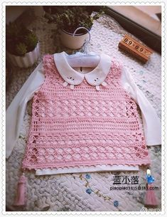Crochet Knitted Baby Vests Expressed 1 - Crochet Clothing and Accessories Baby Clothes Patterns, Crochet Baby Clothes, Baby Knitting Patterns, Crochet Blouse, Knit Crochet, Knitted Baby, Crochet Vests, Baby Knits, Knit Vest
