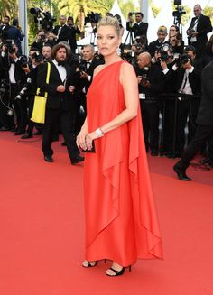 Kate Moss in Vintage Halston at Cannes