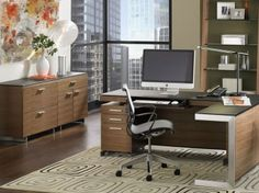 BDI SEQUEL Storage Cabinet Natural Walnut