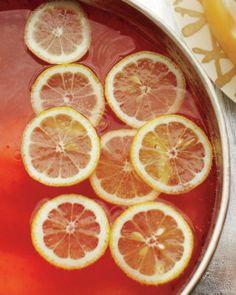Elderflower-Champagne Punch Recipe