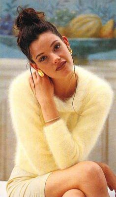 Tumblr is a place to express yourself, discover yourself, and bond over the stuff you love. It's where your interests connect you with your people. Angora Sweater, Vintage Wool, Sweater Outfits, Erotic, Women Wear, Yellow, Connect, People, Bond