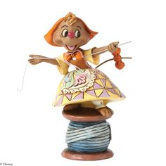 Jim Shore Disney Traditions Suzy on spool of thread Figurine, 4""