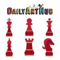 FREE Elegant Chess Pieces Clip Art Set