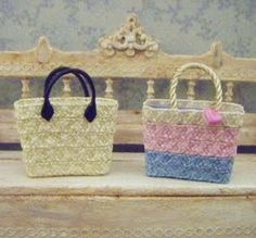 how to: straw bags tutorial                                                                                                                                                                                 More