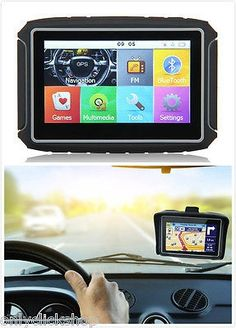 nice 4.3 Touch Screen Motorcycle Car GPS Navigation SAT NAV Map Bluetooth FM 8GB TFT - For Sale