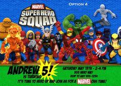 Superhero Squad Birthday Invitations