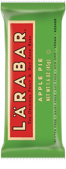 LARABARs were our baby's go-to wake-up snack for several months...great texture + flavor for her; easy, no-guilt choice for a slow-to-wake-up mama. She loves the Apple Pie flavor (watch out for nuts!) and I love the Coconut Cream Pie flavor.