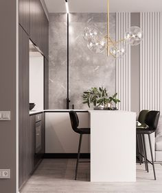 [New] The 10 Best Home Decor Today (with Pictures) Contemporary Interior, Luxury Interior, Kitchen Interior, Kitchen Design, Open Plan Apartment, Feature Wall Design, Kitchen Styling, Interior Inspiration, Decoration