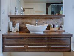 Salle de bains moderne rustique sur pinterest rustique - Meuble de salle de bain rustique ...