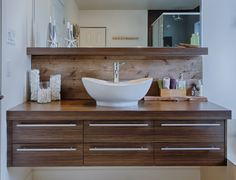 Salle de bain on pinterest soho wooden bathroom and for Salle de bain rustique