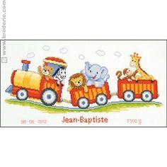 Kit point de croix  - Le petit train safari - Vervaco
