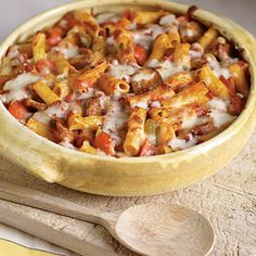 Delicious and easy comfort food - Sausage and Pepper Baked Ziti