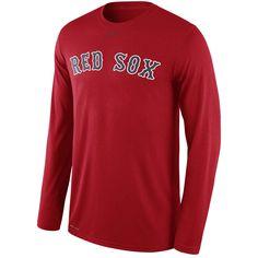 2b9f24a63 Boston Red Sox Nike Legend Wordmark Long Sleeve Performance T-Shirt - Navy