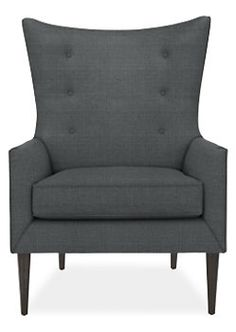 $999 Louis Chair & Ottoman in Doria Fabric - Chairs - Living - Room & Board