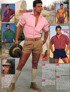80s guys fashion shorts