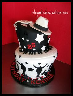 https://flic.kr/p/8i1zEy | MJ Theme Birthday Cake | Wonky Michael Jackson theme…