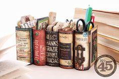 отпечатки (OTPECHATKI.COM.UA): Видео МК  Book Boxes (Typography-Desk-Organizer-Se...