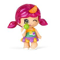 Pinypon Sweets Girl w/ lollipop and pink ponytails