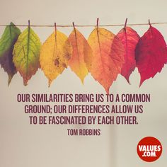Find common ground by sharing a good meal #commonground  www.values.com