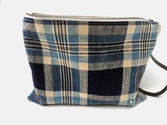 fe1f3f0207f5 JAPANESE BORO POUCH Bag Purse Handwoven Indigo Dyed by TnBCdesigns Pouch Bag