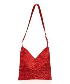 Red Floral Shoulder Bag | zulily