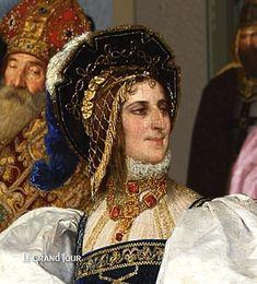 Bona Sforza est âgée de 24 ans quand elle arrive en Pologne pour épouser le roi Sigismond, âgé lui de 50 ans. Il est sans héritier. Comme Catherine de Médicis en France, elle arrive avec une dot très importante, notamment des tapisseries qui viennent compléter la collection de son époux, Sigismond 1er. Catherine De Médicis, Lituania, Bona, Cultura, Monumentos, Francia, Moda Para Mujeres, Polonia