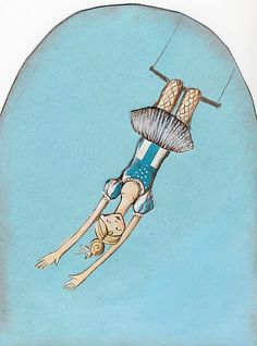 the trapeze artist by emma block, via Flickr