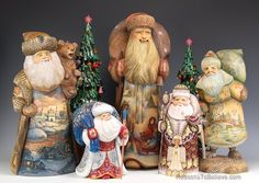 Russian Santa grouping from Reasons to Believe. Sizes range from 8 - 20 inches in height.