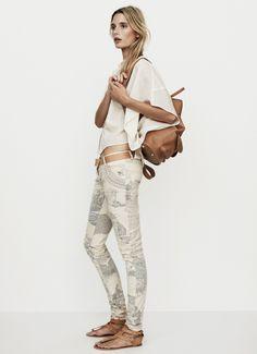 Skinny jeans by Nanushka Printed Skinny Jeans, Jeans Skinny, Printed Pants, Look Fashion, Fashion Outfits, Womens Fashion, Pantalon Cigarette, Hippy Chic, Moda Boho