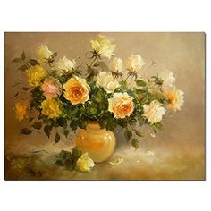 Flower-DIY Painting diy oil painting 16x20 inch Frameless paint by number kits unique gift by DIY Painting -- Details can be found by clicking on the image.