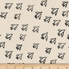 Designed by Alexia Marcelle Abegg for Cotton + Steel, this design, printed on unbleached cotton, features abstract birds darting across the fabric. Perfect for quilting, apparel and home decor accents. Colors include cream and black.