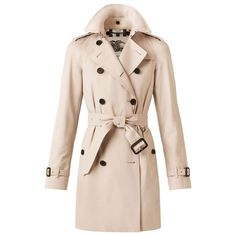 Burberry The Westminster - Mid-Length Heritage Trench Coat for Women ($1,595) ❤ liked on Polyvore