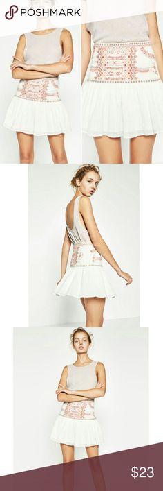 Selling this NWT Zara Embroidered Boho Skirt on Poshmark! My username is: bbarnett1234. #shopmycloset #poshmark #fashion #shopping #style #forsale #Zara #Dresses & Skirts