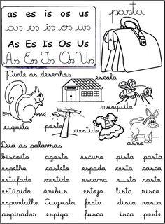 Rosearts- Atividades para imprimir: S entre vogais, sons do x, ss