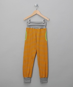 Casafeli   Orange & Grey Stripe Trousers - Infant, Toddler & Kids