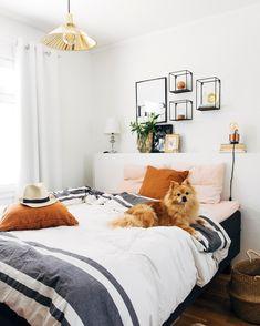 Scandiboho bedroom // Pinossa | Pinossa-blogissa sisustetaan pienen perheen kotia rennolla otteella Marimekko, New Room, Shag Rug, Lifestyle Blog, Interiors, Home Decor, Shaggy Rug, Homemade Home Decor, Decoration Home