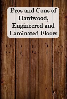 Previous Pinner Wrote:Pros and Cons, and the difference between hardwood, engineered and laminate flooring- REALLY good to know! Me: I got engineered hardwood floors and would not do it again! Go with regular hardwood if you are wanting hardwood floors! Laminate Flooring, Flooring Ideas, Flooring Types, Plywood Floors, Kitchen Flooring, Wood Flooring Options, Types Of Hardwood Floors, Modern Flooring, Basement Flooring