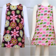A-Line Dress Pattern for Girls - Reversible Dress Sewing pattern. $6,95, via Etsy.