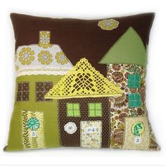 A Very Fine House Pillow by Robin's Egg Blue