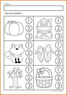 fall literacy activities and worksheets no prep kindergarten kindergarten literacy. Black Bedroom Furniture Sets. Home Design Ideas