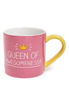 An encouraging pink mug paired with coffee will be perfect start to any morning.